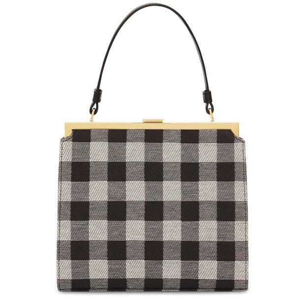 Mansur Gavriel Checker Elegant Bag - Black/Ecru