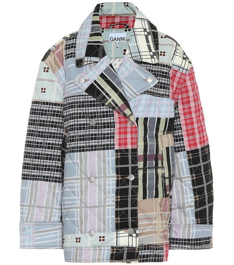 Ganni Quilted denim jacket