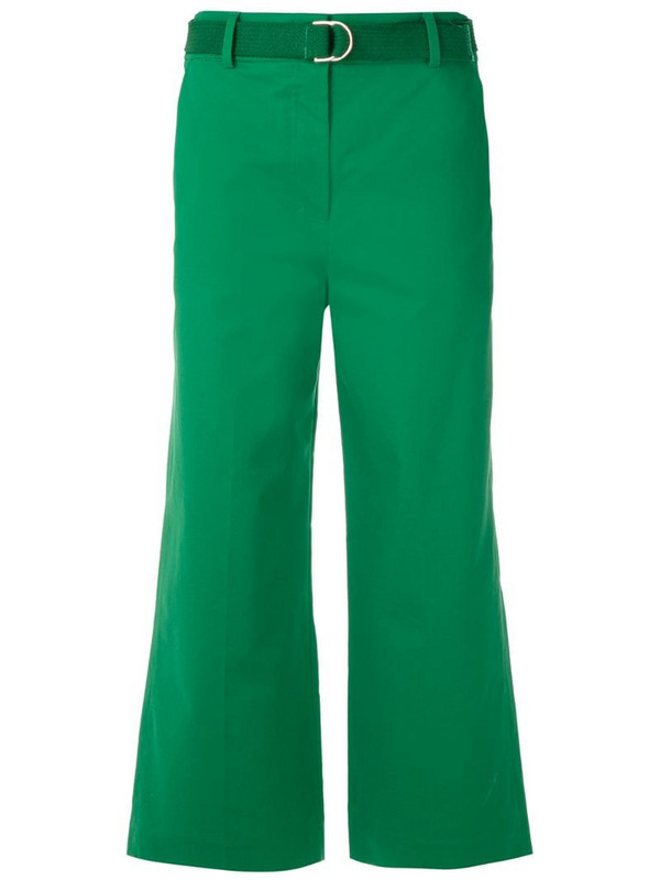 Nk belted tailored trousers in green