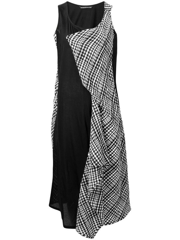 Yohji Yamamoto patchwork A-line dress in black