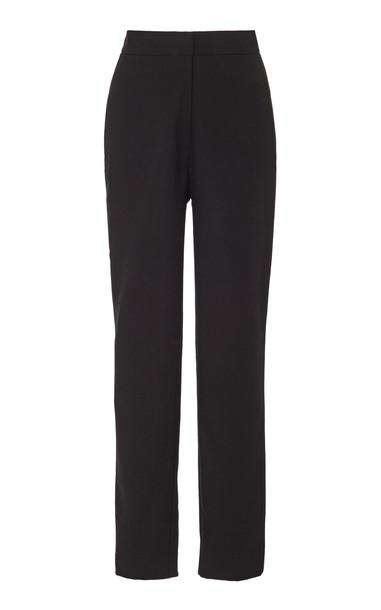 Andres Otalora Cordoba Wool Cigarette Pants Size: 4 in black