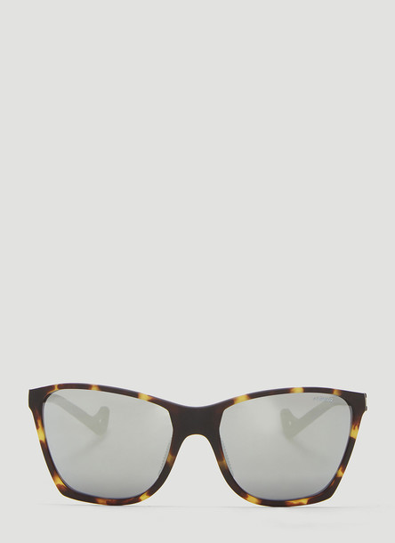 District Vision x Satisfy Keiichi Running Sunglasses in Brown size One Size