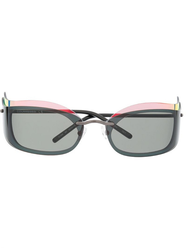 Courrèges Eyewear layered-look square-frame sunglasses in black