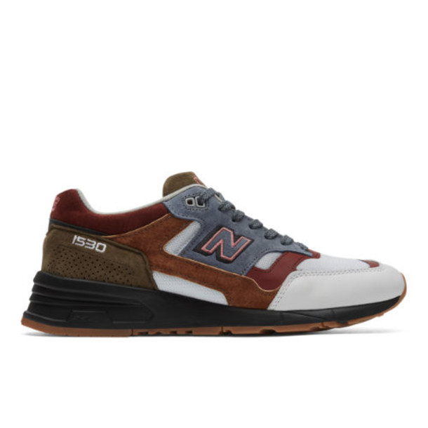 New Balance Made in UK 1530 Scarlet Stone Men's Made in UK Shoes - White/Grey/Red (M1530WBB)