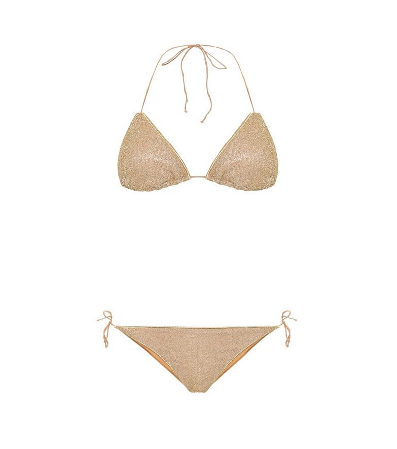 Oséree Lumière bikini in gold