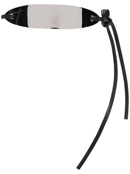 Jil Sander silver-tone tie-back belt in black