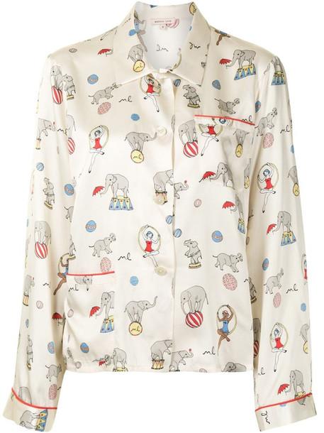 Morgan Lane Ruthie pyjama top in yellow