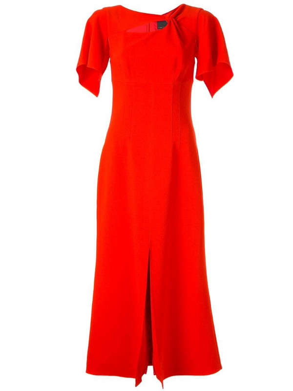 Ginger & Smart Curator twist detail dress in red