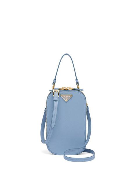 Prada Saffiano mini-bag in blue
