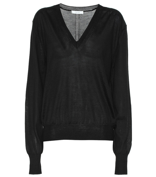 The Row Andrina cashmere sweater in black