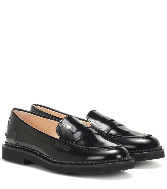 Tod's Leather loafers in black