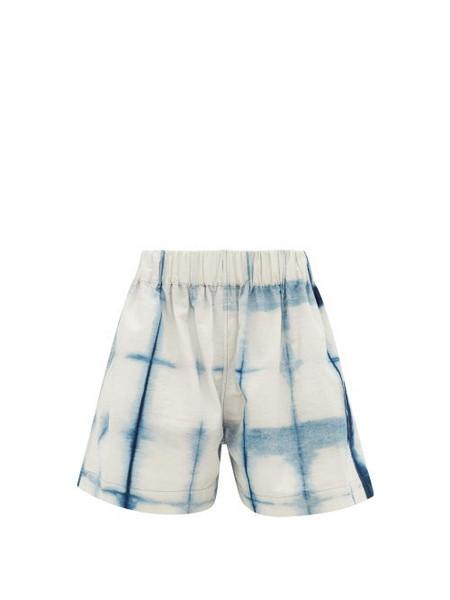 Story mfg. Story Mfg. - Yeah Tie-dye Organic-cotton Shorts - Womens - Blue White