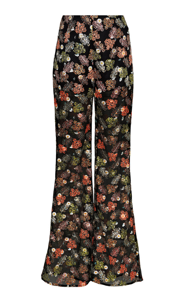 Alice McCall Celestial Creature Flared Chiffon Pants in black