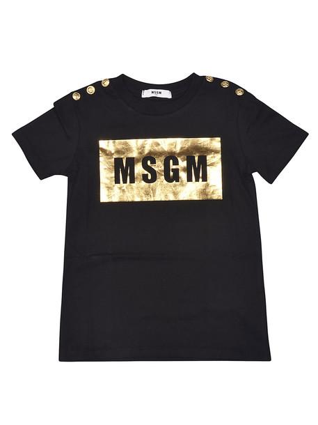 MSGM Logo Print Short Sleeve T-shirt