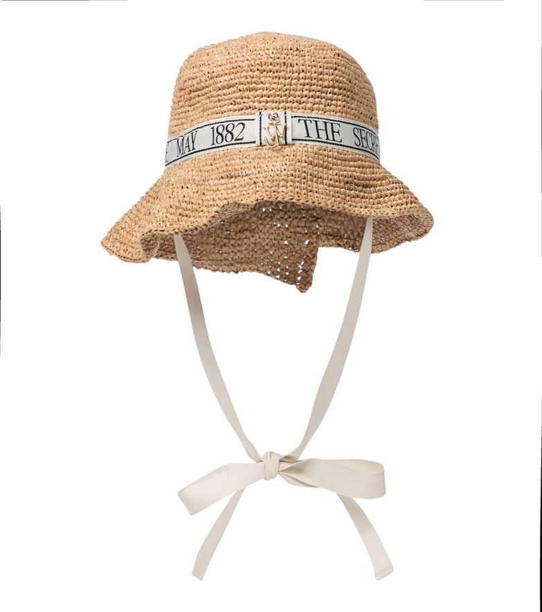 JW Anderson Raffia bucket hat in beige