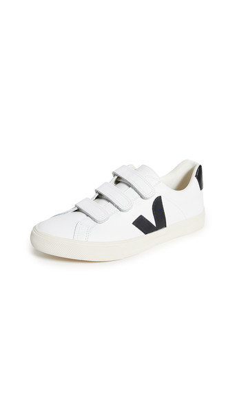 Veja 3-Lock Logo Sneakers in black / white
