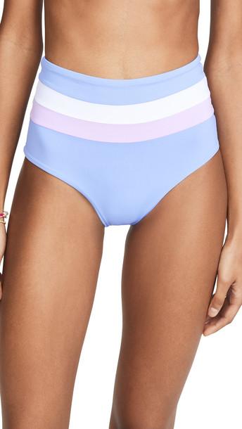 LSpace L*Space Portia Stripe Bikini Bottoms in blue / lilac / white