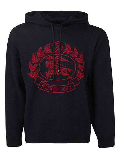 Burberry Crest Logo Hoodie in blue