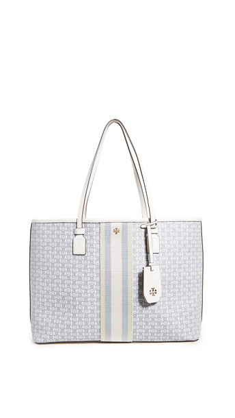 Tory Burch Gemini Link Canvas Tote in ivory