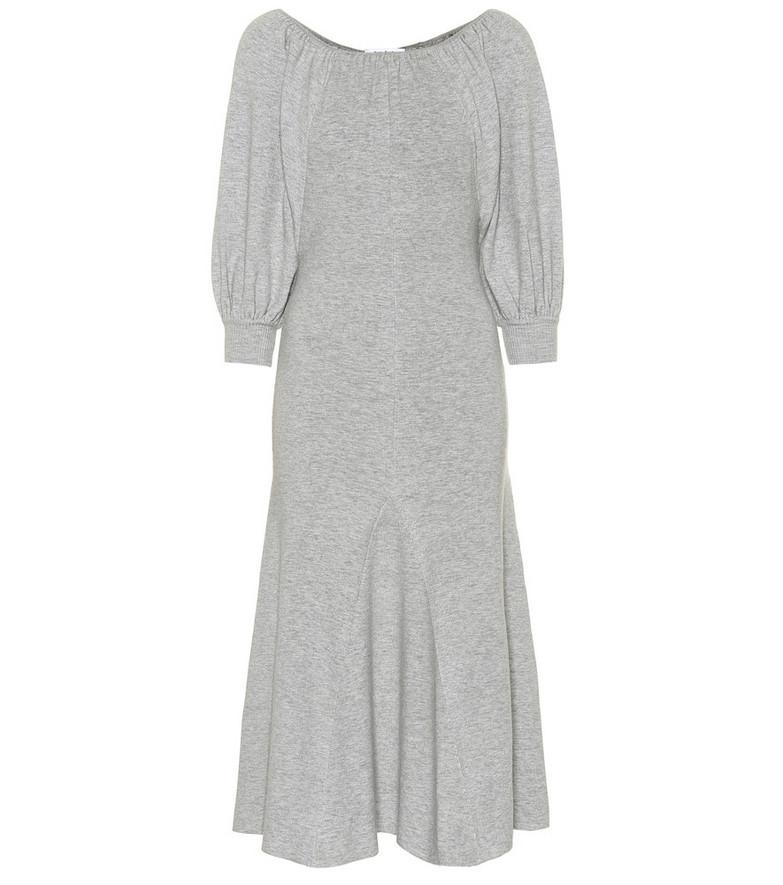 Ryan Roche Cashmere midi dress in grey