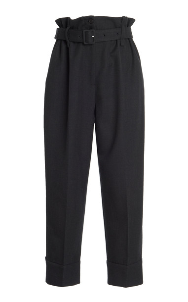 Simone Rocha Cropped Wool-Blend Pants in black