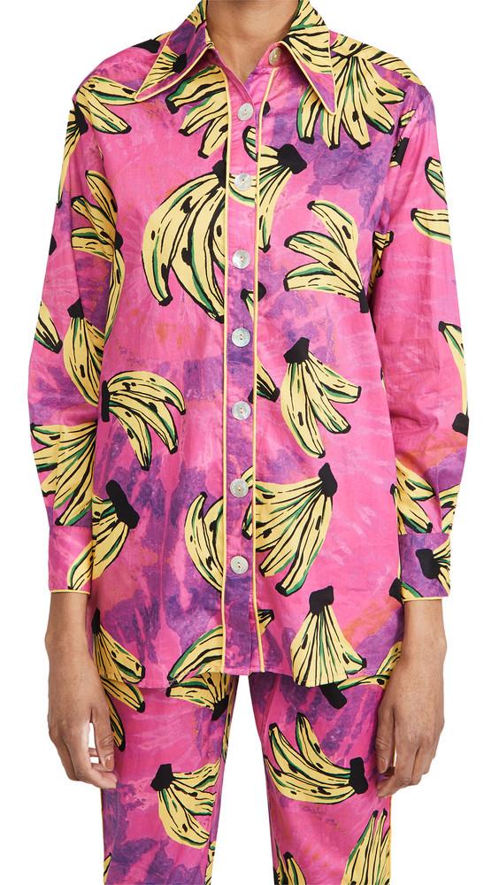 FARM Rio Tie Dye Bananas Pajama Shirt in multi