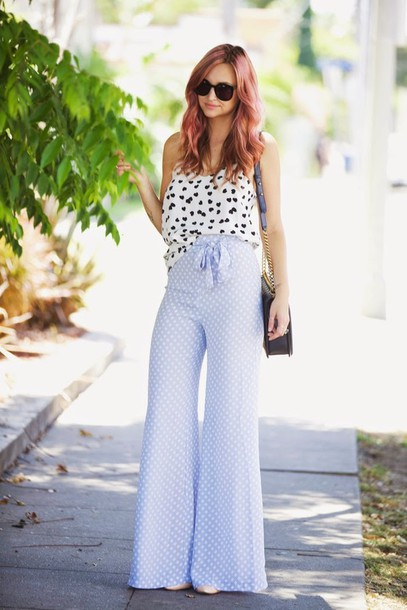 late afternoon pants top bag shoes sunglasses jewels