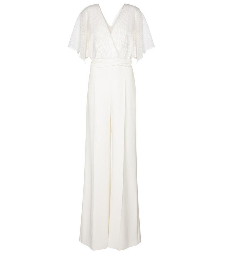 Max Mara Bridal Bibo sequined jumpsuit in white