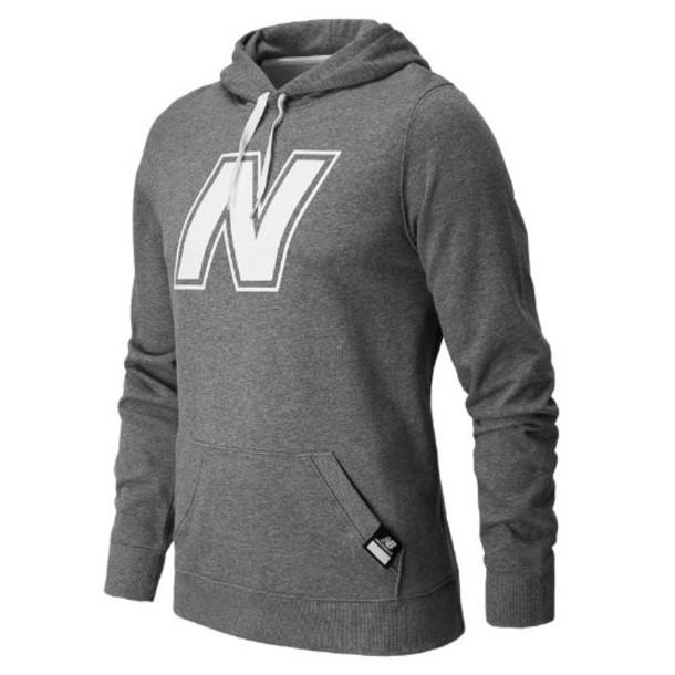 New Balance 4364 Men's Essentials Pullover Hoodie - Heather Grey (MET4364HGR)