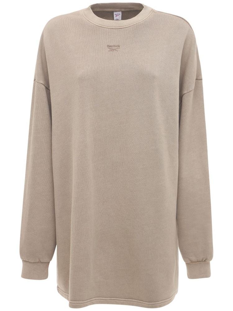 REEBOK CLASSICS Cl Rbk Nd Crewneck Sweatshirt in brown / beige