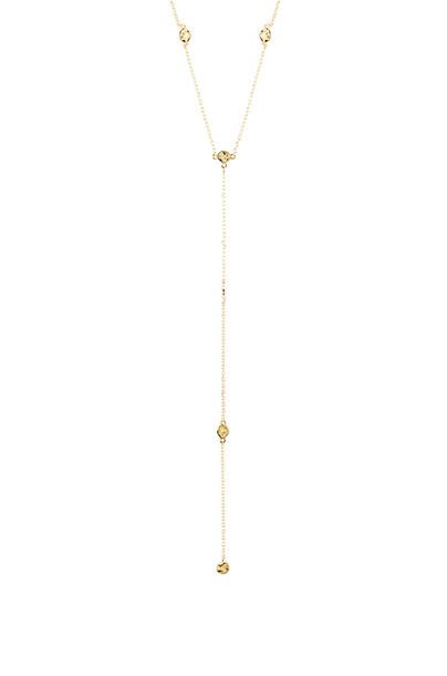 gorjana Chloe Short Lariat Necklace in gold / metallic