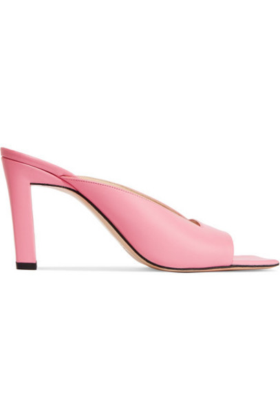 Wandler - Isa Leather Mules - Pink
