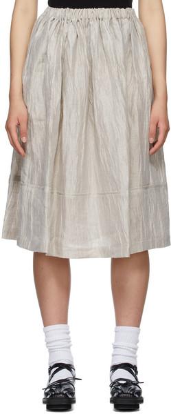 Tricot Comme des Garçons Beige Nylon Washer Skirt in natural
