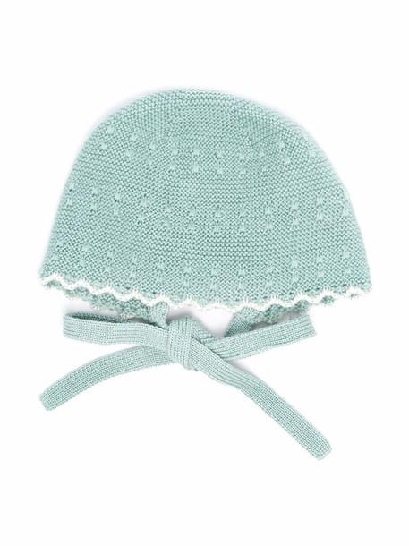 Paz Rodriguez bow fastening knit hat - Green