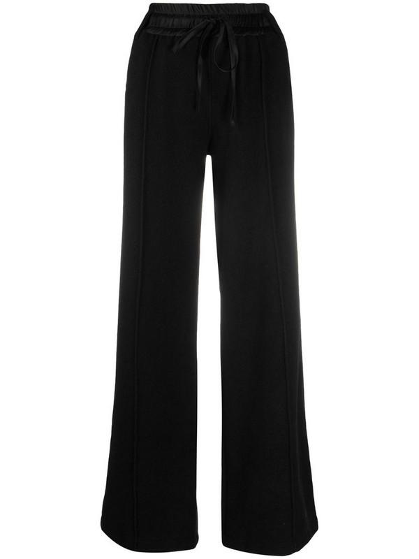 Andrea Ya'aqov wide-leg cashmere-blend trousers in black