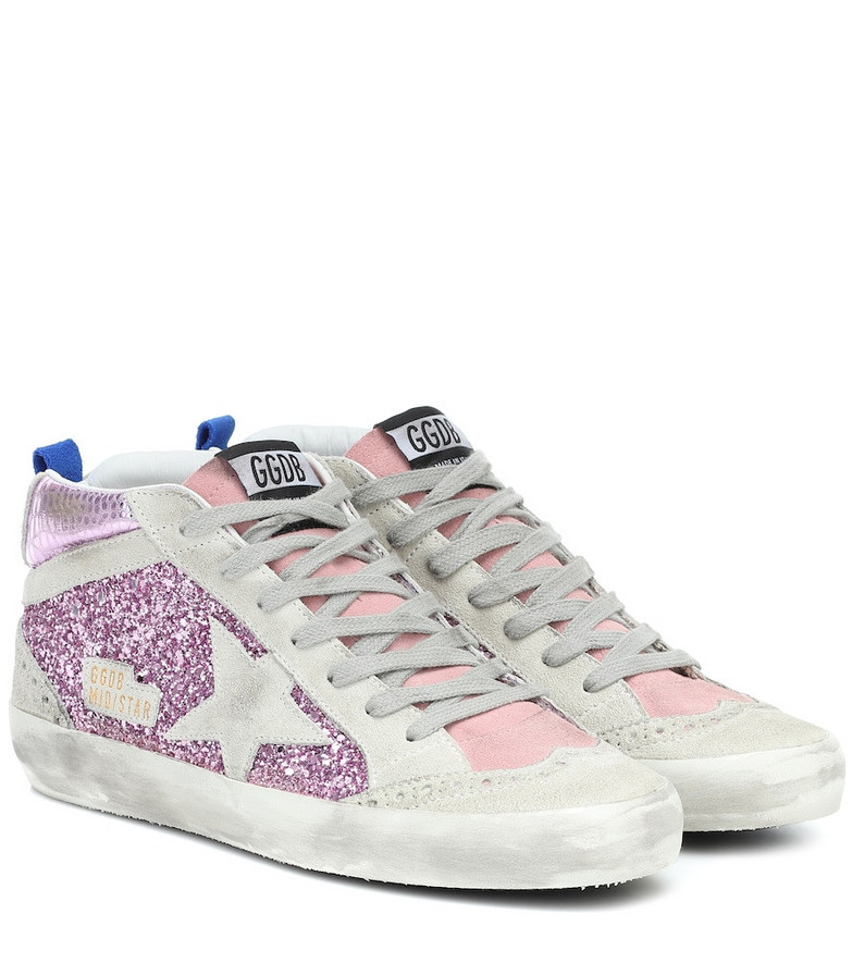 Golden Goose Mid Star embellished sneakers in pink