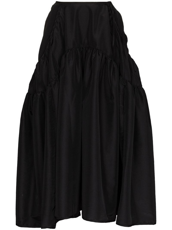 Cecilie Bahnsen high-waist tiered midi skirt in black