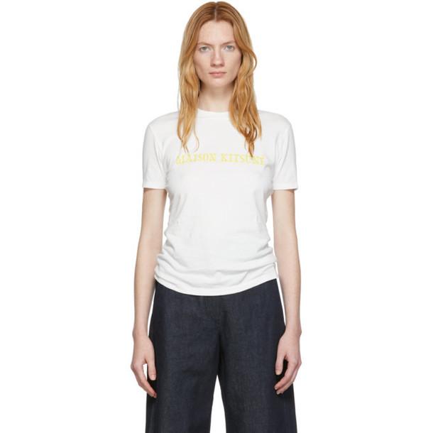 Maison Kitsuné Maison Kitsuné White Logo T-Shirt