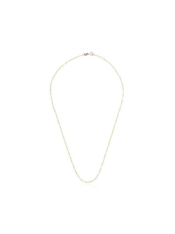 Gigi Clozeau 18kt rose gold and yellow beaded necklace