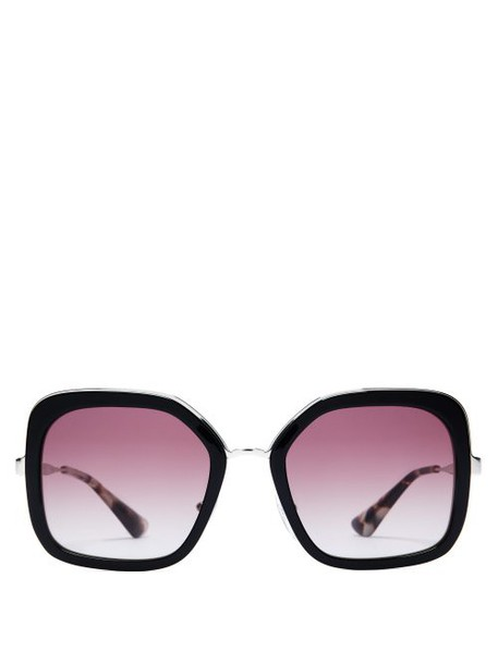 Prada Eyewear - Oversized Square Frame Acetate Sunglasses - Womens - Black