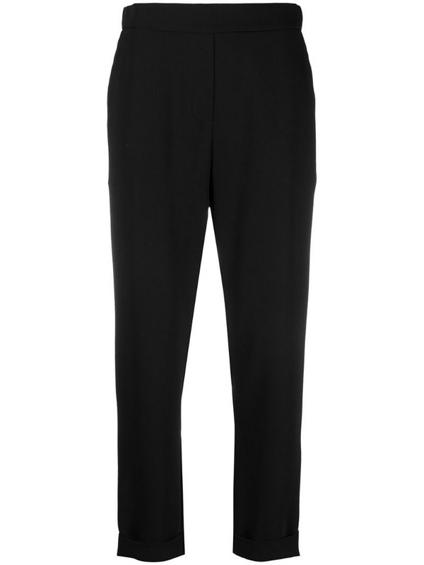 P.A.R.O.S.H. cropped slim-fit trousers in black
