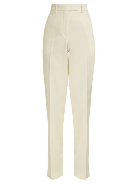 Calvin Klein 205w39nyc - Side Striped Wool Trousers - Womens - White
