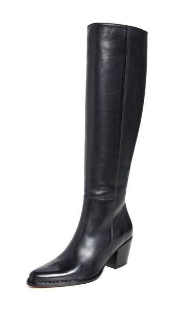 Vince Hurley Tall Boots in black