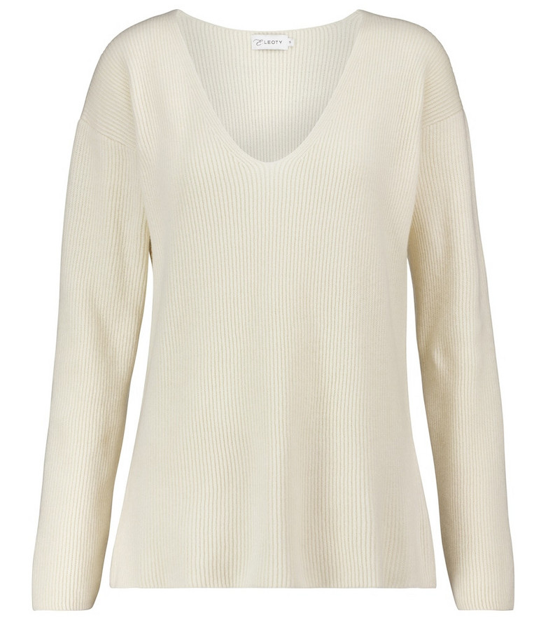 Ernest Leoty Eloise merino wool and cashmere sweater in white