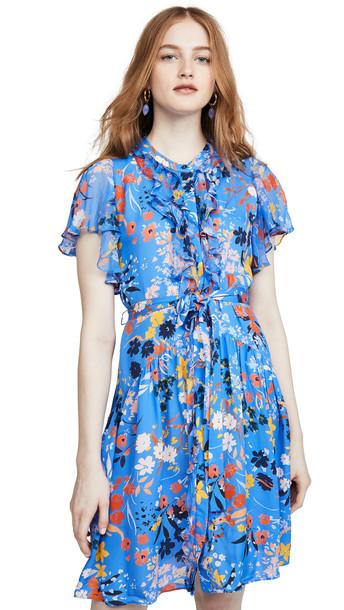 Shoshanna Rylee Dress in cobalt / multi