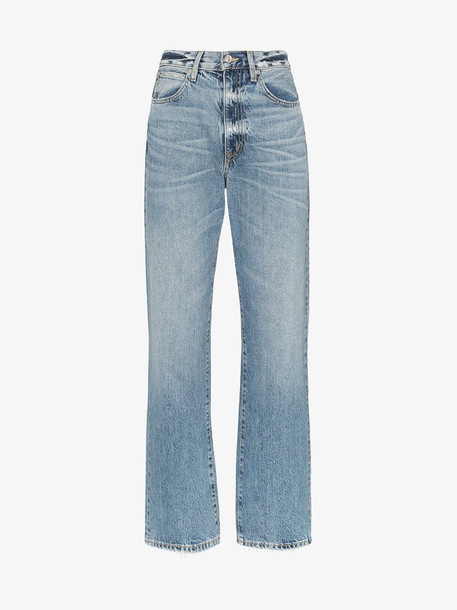 Slvrlake London distressed high waist jeans in blue