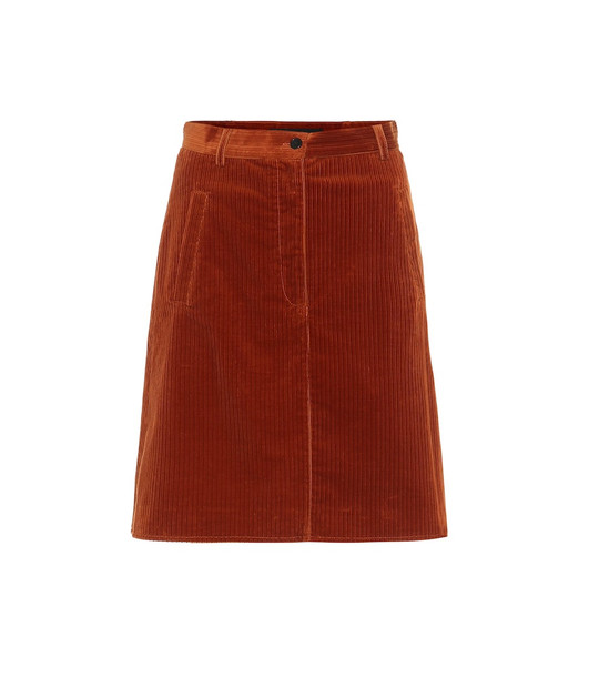 Etro Corduroy miniskirt in orange