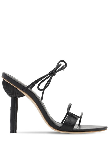 CULT GAIA 100mm Malia Leather Sandals in black