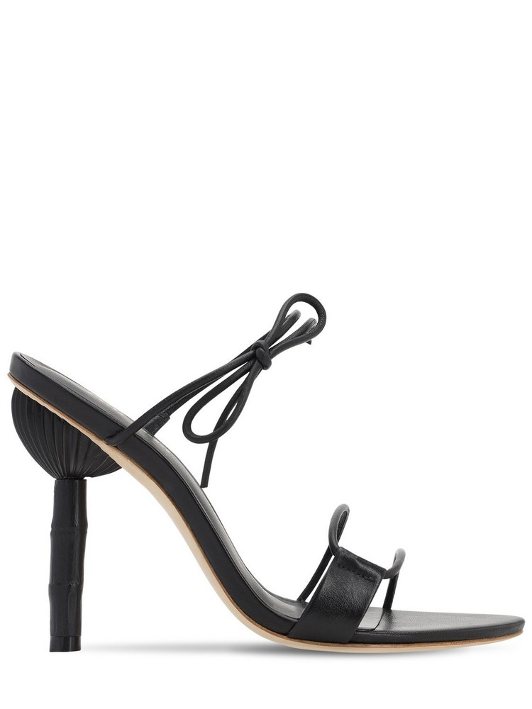 CULT GAIA 100mm Malia Leather Sandals in black