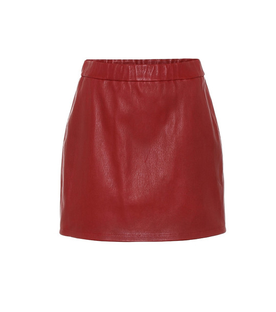 Helmut Lang Leather mini skirt in red